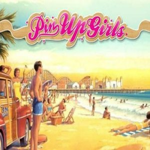 Pin up girls slot logo