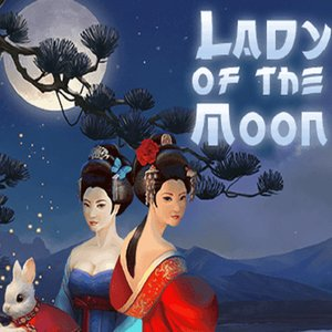 Lady of the moon slot logo